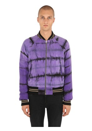 REVERSIBLE TIE DYED BOMBER JACKET