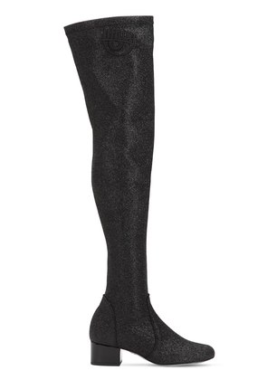 30MM GLITTERED OVER THE KNEE BOOTS