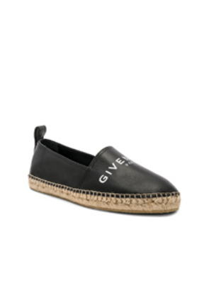 Givenchy Leather Espadrilles in Black