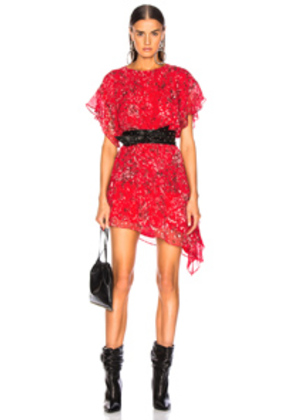 IRO Blame Dress in Abstract,Red