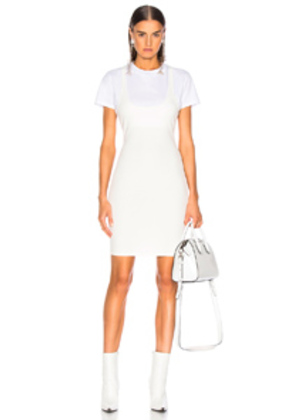 T by Alexander Wang Variegated Compact Dress in White