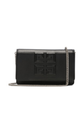 Givenchy Emblem Chain Wallet in Black