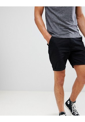 Brave soul basic chino shorts - Black