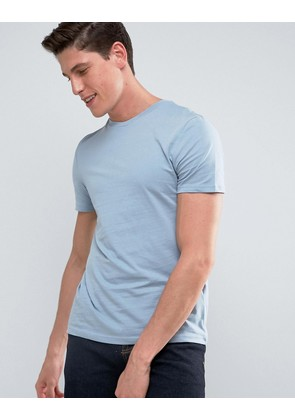 ASOS T-Shirt With Crew Neck - Neptune