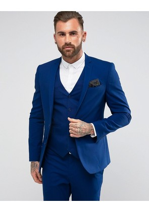 ASOS Slim Suit Jacket In Royal Blue - Blue