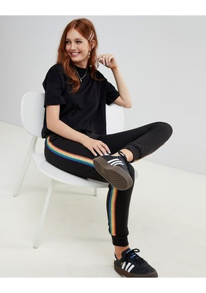 New Look Rainbow Tipping Jogger - Black