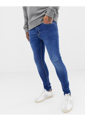 New Look super skinny jeans in blue wash - Bright blue