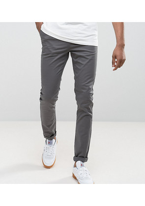 ASOS TALL Skinny Chinos In Grey - Mid grey