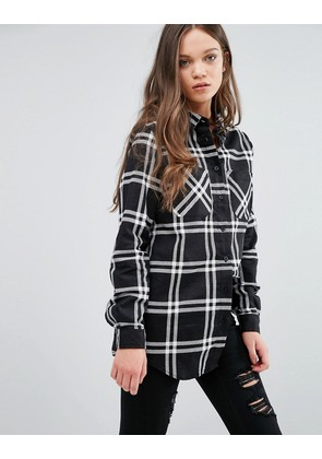 Brave Soul Check Shirt - Black/white