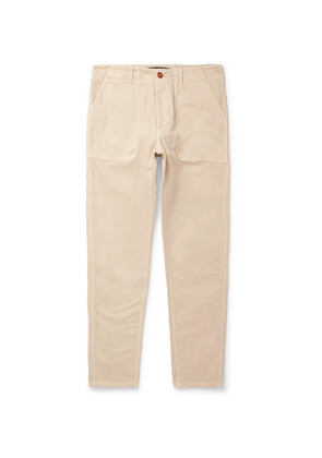 Slim-fit Garment-dyed Cotton-twill Chinos
