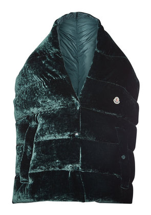 Moncler Down-Filled Velour Scarf