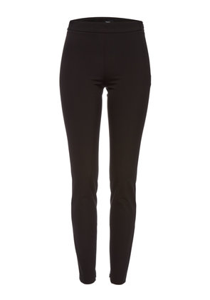 Theory High-Waist Leggings with Zipped Ankles