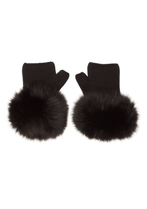 Moncler Wool Gloves with Fur