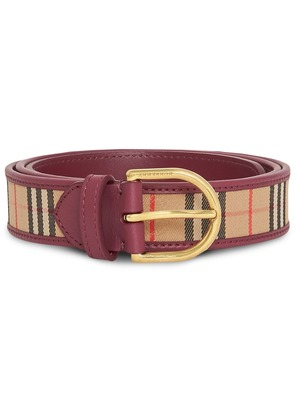 Burberry D-ring 1983 Check belt - Red