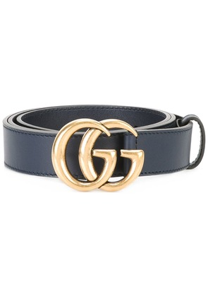 Gucci interlocking GG buckle belt - Blue