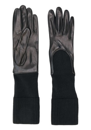 Gala knitted cuff gloves - Black