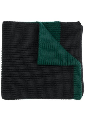 Moncler classic ribbed scarf - Black