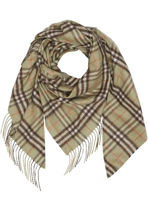 Burberry The Burberry Bandana in Check Cashmere - Green