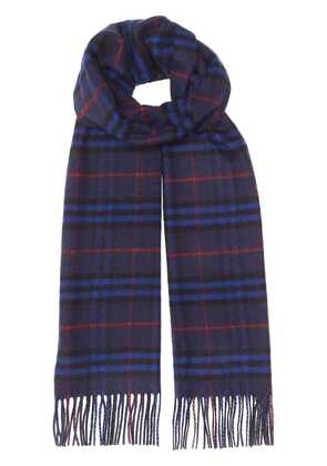 Burberry The Classic Vintage Check Cashmere Scarf - Blue