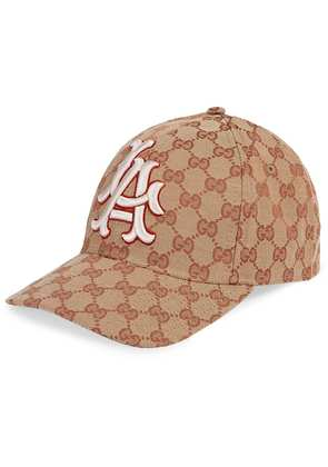 Gucci Baseball hat with LA Angels™ patch - Brown