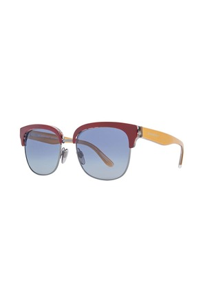 Burberry Check Detail D-frame Sunglasses - Red