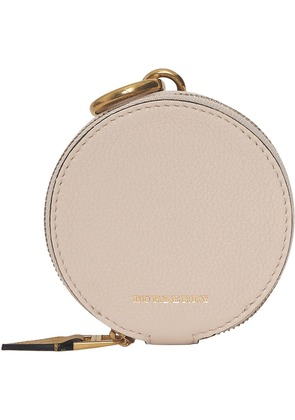 Burberry Small Round Leather Coin Case - Grey