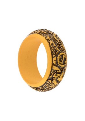 Gucci logo carved bangle - Orange