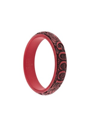 Gucci logo carved bangle - Red