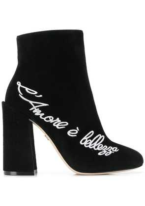 Dolce & Gabbana L'Amore ankle boots - Black