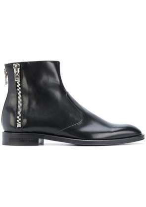 Givenchy zip detail ankle boots - Black
