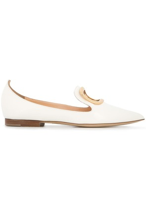 Rupert Sanderson cut out loafers - White