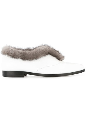 Rupert Sanderson fur lining loafers - White