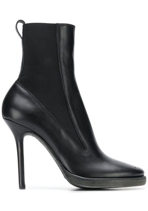 Haider Ackermann pointed toe ankle boots - Black