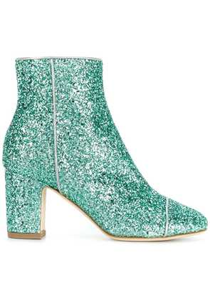 Polly Plume glittered ankle boots - Green