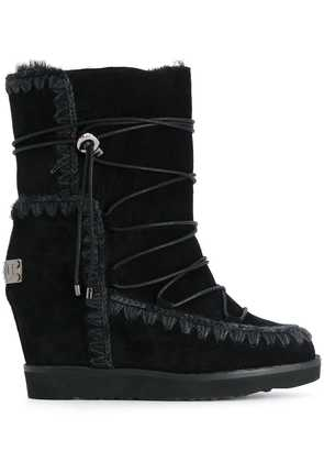 Mou wedged boots - Black