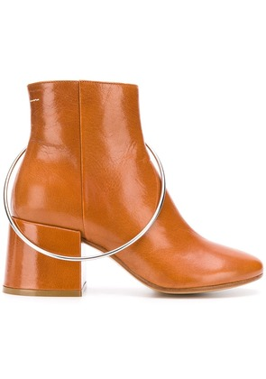 Mm6 Maison Margiela ring ankle boots - Brown