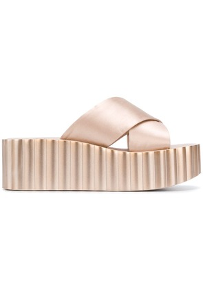 Tory Burch flatform crossover strap sandals - Nude & Neutrals