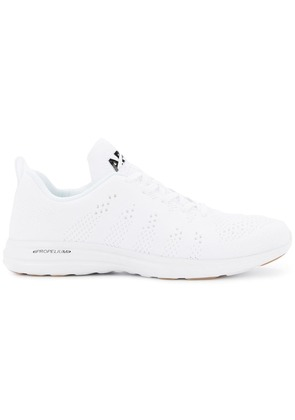 Apl perforated lace-up sneakers - White