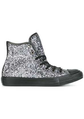 Converse hi-top glitter sneakers - Metallic