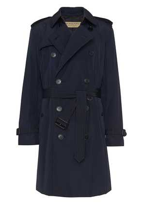 Burberry Quilt-lined Nylon Trench Coat - Blue