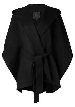Theory belted cape coat - Black