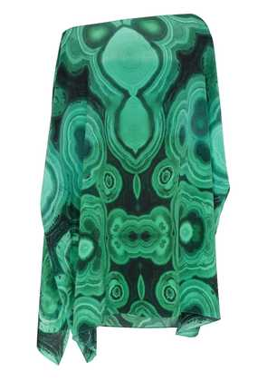 Kimberly Mcdonald silk off the shoulder kaftan - Green