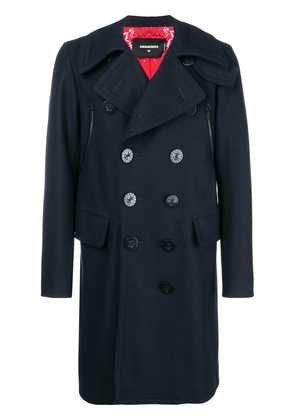Dsquared2 classic double-breasted coat - Blue