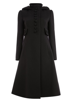 Gucci buttoned flared coat - Black