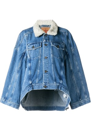 Y / Project oversized denim jacket-shirt - Blue