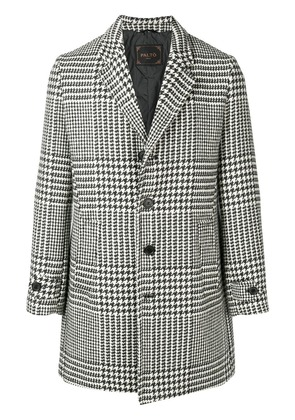 Paltò houndstooth coat - White