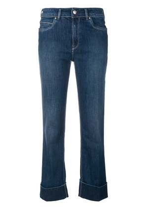 Fay cropped stonewashed jeans - Blue