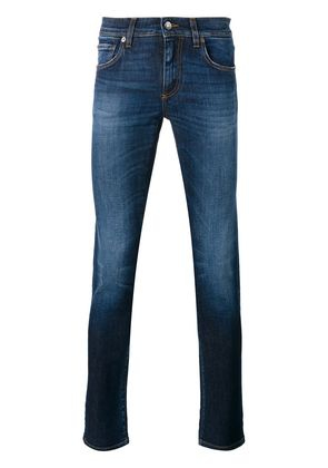 Dolce & Gabbana pineapple tapered jeans - Blue