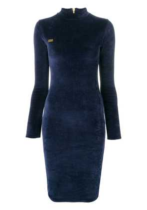 Gcds fitted silhouette dress - Blue