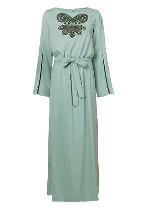 Pinko embroidered front maxi dress - Blue